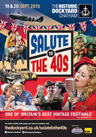 Chatham Historic Dockyard - Salute to the 40s - Spalding Departure